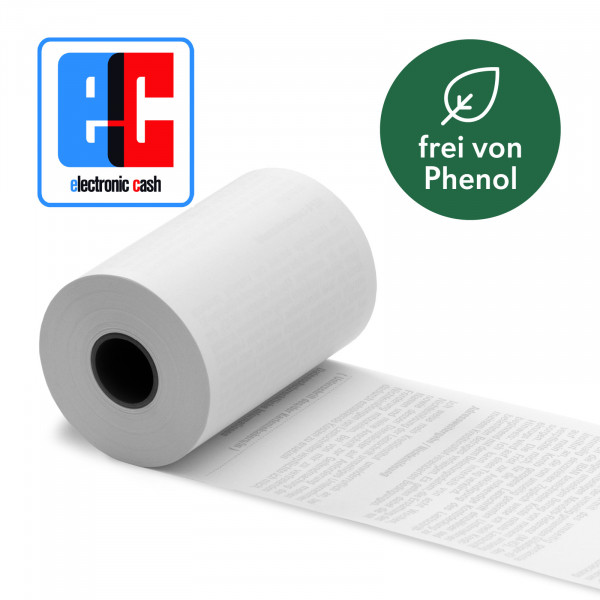 EC Cash Thermorollen 57/40/12 SEPA Lastschrift First Data - phenolfrei [18m] - 50 Rollen
